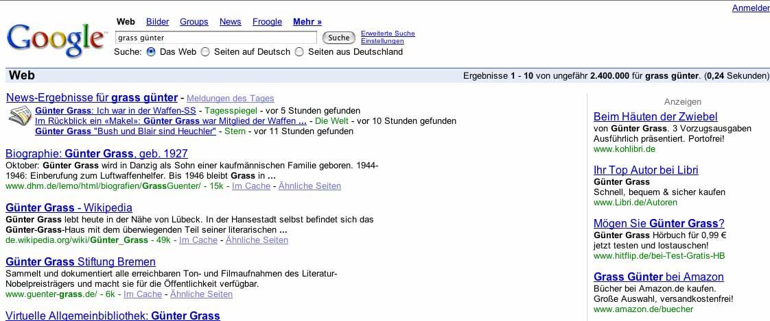 gnter grass eigentlich gra 16 oktober 1927 in danzig ist ein deutscher schriftsteller bildhauer - Gunter Grass Lebenslauf