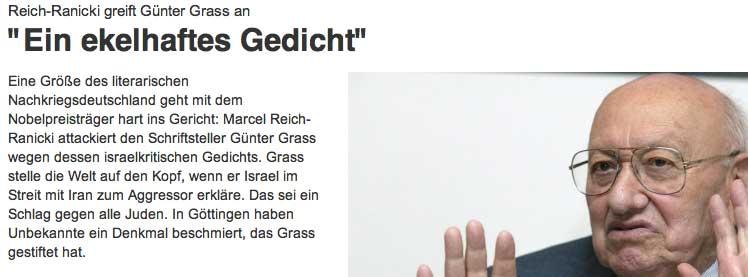 Grass Gedicht Israel